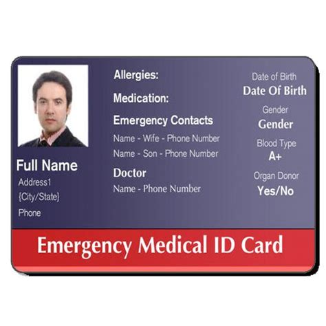 hospital id card template free id cards healthcare hospital badge