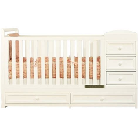 White Crib Changer Combo by Afg Athena I 2 In 1 Convertible Crib And Changer