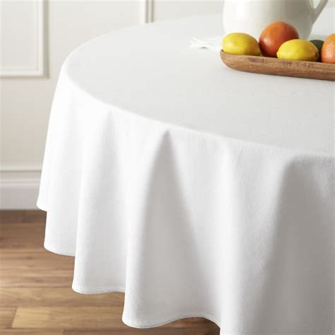 table cloth abode white 90 quot tablecloth crate and barrel