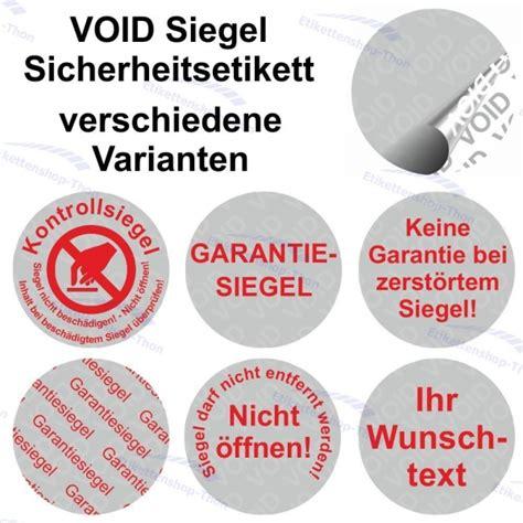 Logo Aufkleber Auf Rolle by Void Siegel Sicherheitsetiketten Aufkleber Auf Rolle 216