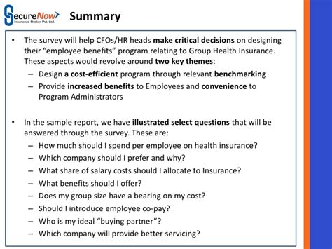 family foundationrhkfforg summary sample employee benefit survey