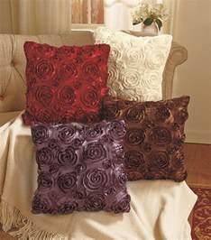 Throw Cushions For Decor Home decorative throw pillow 3 d rosette sherpa decorative sofa