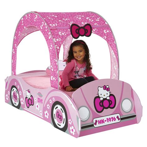 hello kitty beds new hello kitty junior toddler bed feature car boxed ebay