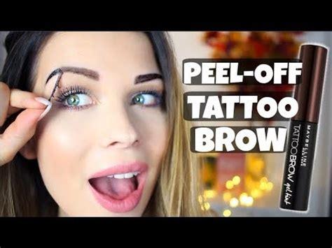 tattoo brow maybelline kaina maybelline tattoo brow im live test i kim wood youtube