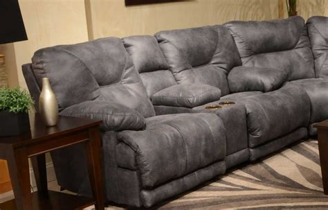 voyager lay flat reclining sofa catnapper voyager sectional with lay flat 3 recliner sofa