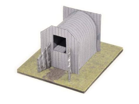how to make air card shelter modelling
