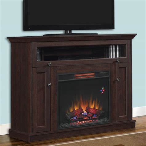 wall or corner infrared electric fireplace media