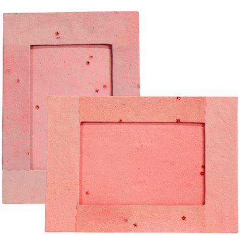 Paper Frame - handmade pink paper photo frame with flower designs from