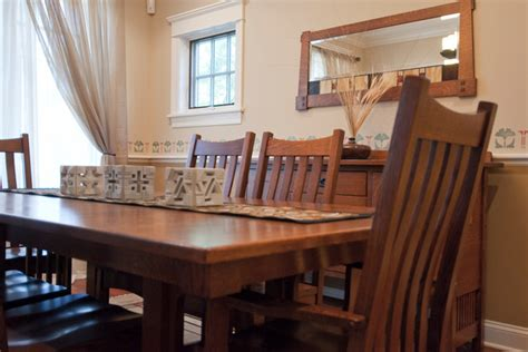 bellingham table  chairs craftsman dining room