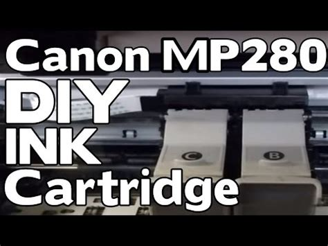 reset canon mp280 youtube how to replace the ink cartridge on a canon pixma mp 280