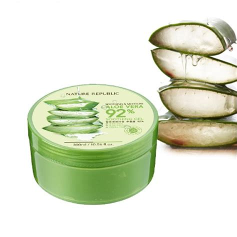 Harga Nature Republic Soothing Moisture Aloe Vera 92 Soothing Gel aloe vera soothing gel original