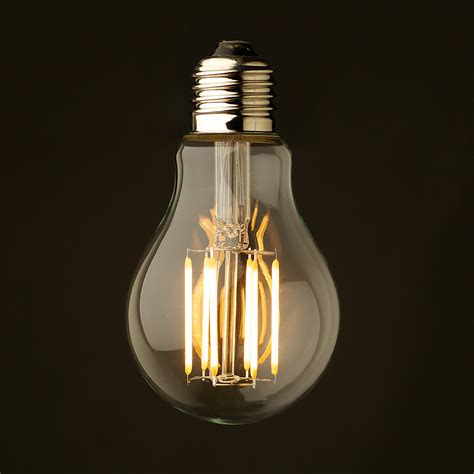 Clear Led Light Bulbs by 5 Watt Dimmable Lantern Filament Led E27 Clear Gls
