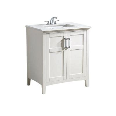 simpli home winston 30 in vanity in soft white with