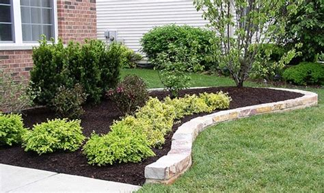 stone flower bed border brick edging best images collections hd for gadget