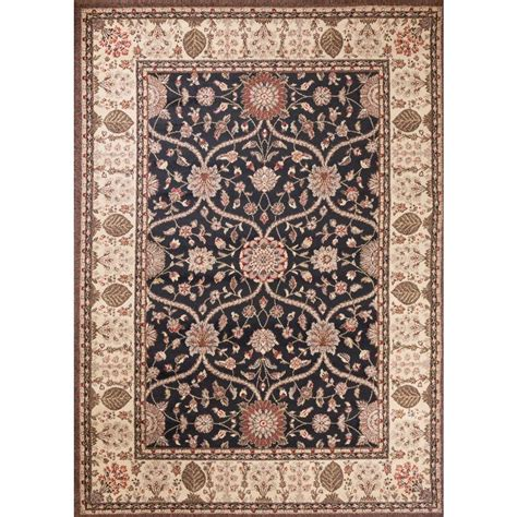 natco home fashions rugs natco stratford garden gate black 7 ft 3 in x 10 ft 10 in area rug 8267bk81 the home depot