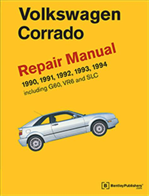 online car repair manuals free 1994 volkswagen corrado user handbook vw volkswagen repair manual corrado 1990 1994 bentley publishers repair manuals and