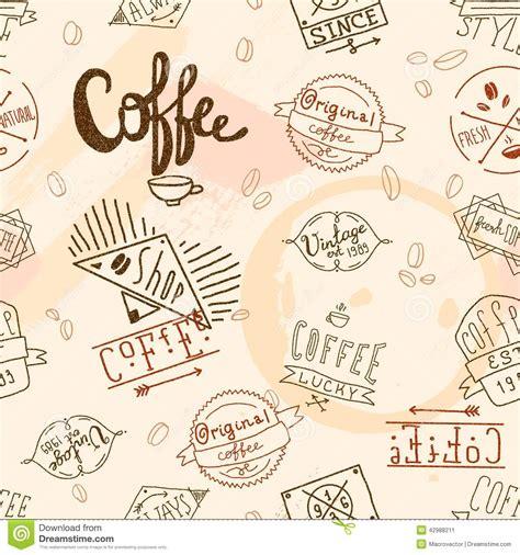 coffee cafe wallpaper vector vintage retro coffee seamless stock vector illustration