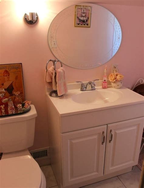 powder room paint color ideas our updated pink powder room hometalk
