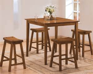 oak dining room sets homelegance saddleback 5 counter dining room set in
