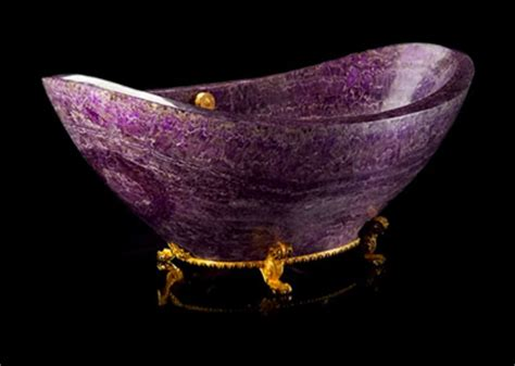 gemstone home decor amethyst bathtubs and sinks modern home decor