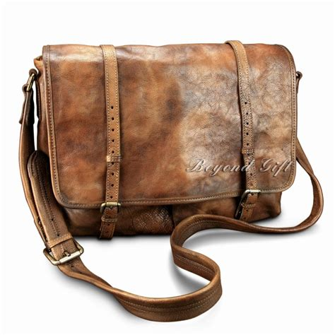 Handmade Cross Bags - handmade vintage distressed cow leather mens shoulder bag