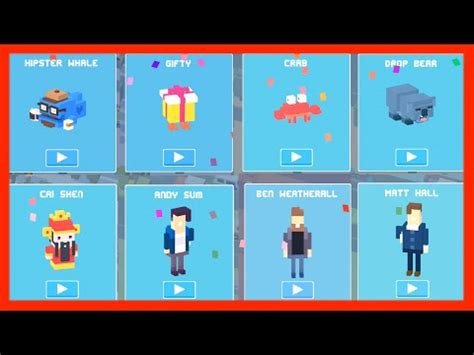 how to get the new mystery characters on cross road crossy road the totem unlock new secret character of the