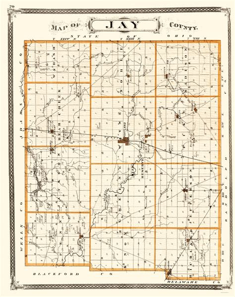 jay county indiana old county maps jay county indiana landowner in by