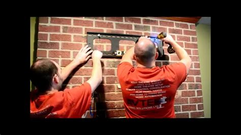 hanging a tv on brick fireplace how to hang a flat panel tv on a brick fireplace