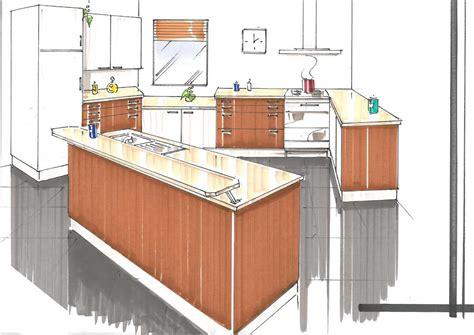 cuisine comptoir dessin de cuisine