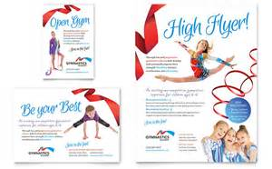 gymnastics academy flyer amp ad template design