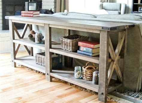 what do you call a table behind a couch diy console table 2x4 projects 8 cool diys bob vila