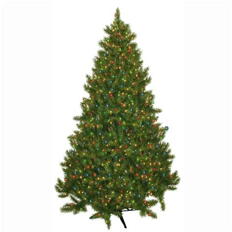 general foam 7 5 ft pre lit carolina fir artificial