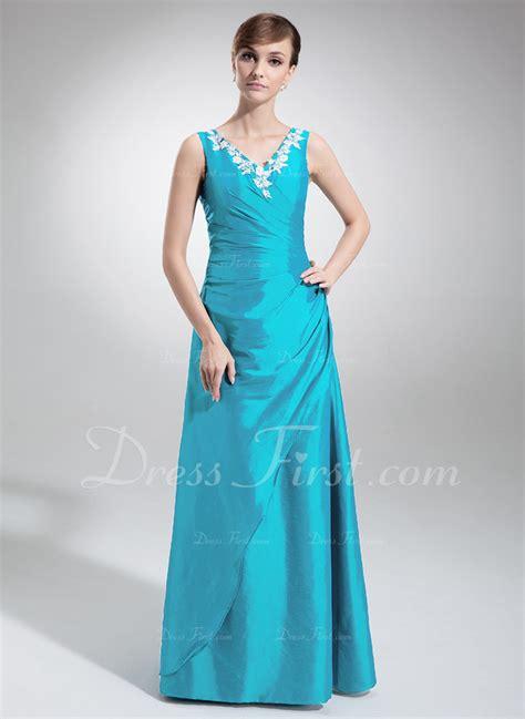 a linie v ausschnitt wadenlang taft brautjungfernkleid mit gefaltet p297 a linie princess linie v ausschnitt bodenlang taft