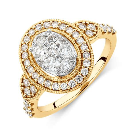 Engagement Rings On by Engagement Ring With 1 Carat Tw Of Diamonds In 14ct Yellow