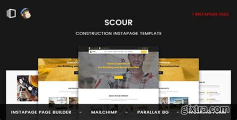 themeforest instapage themeforest scour v1 0 construction instapage template