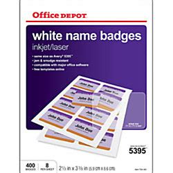 Office Depot Brand Adhesive Name Badge Labels Box Of 400 By Office Depot Officemax Office Depot Label Templates