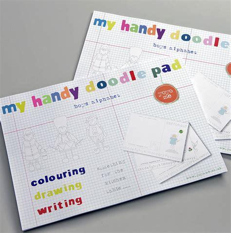 doodle pad handy alphabet doodle pad by yoyo me notonthehighstreet