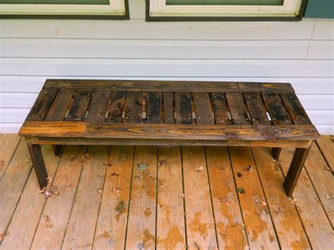 building a bench out of pallets ana white simple bench from pallets diy projects
