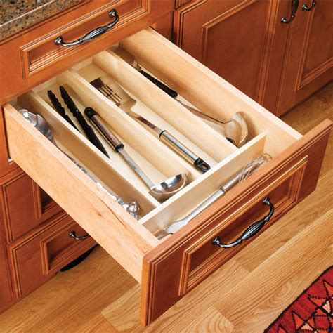kitchen cabinet inserts organizers drawer organizers wood utensil tray drawer inserts for