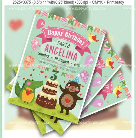 free psd birthday templates 45 free birthday invite templates in psd free psd