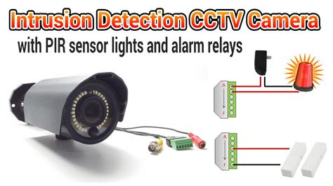 motion light with alarm cctv camera with pir motion detector light and alarm relays