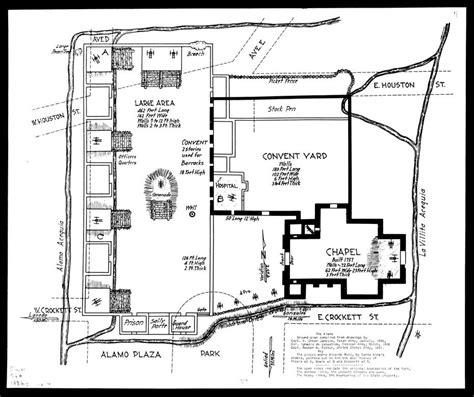 Alamo Floor Plan 1836 by San Antonio De Valero Mission The Handbook Of Texas