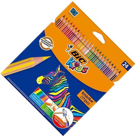 boyama kalemleri bic kids evolution stripes  renk canli