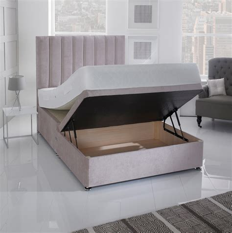 ottoman beds with mattress giltedge beds half opening 4ft small double ottoman base