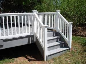 Vinyl Handrails For Stairs azek deck stairs and vinyl railing decks and patios vinyls stairs and deck stairs