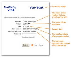 verified by visa card 3d secure