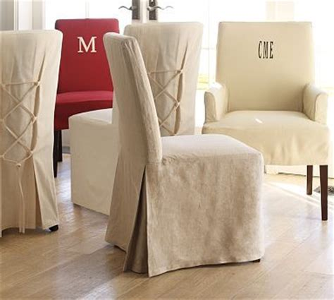 Pottery Barn Dining Room Chair Slipcovers slipcover parsons chair slipcovers