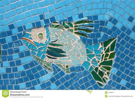 Mural Wall Tiles mosaic fish 2 stock photo image 1343970