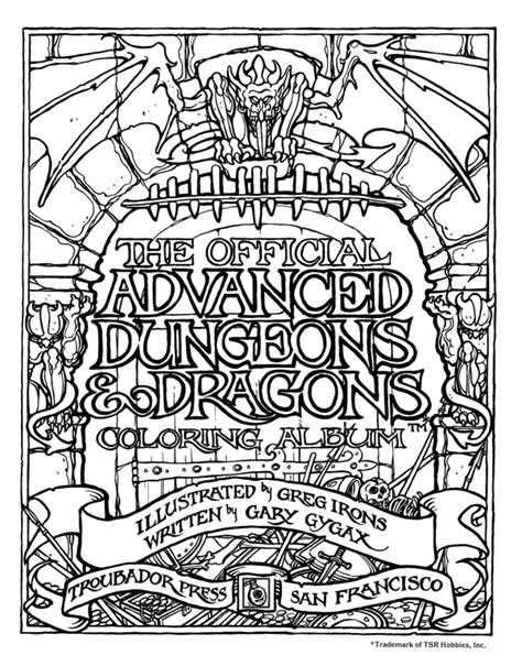 coloring book album free the official advanced dungeons dragons coloring album