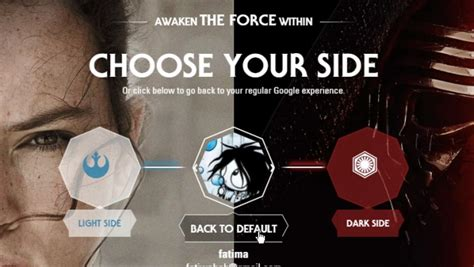 theme google chrome star wars choose the light or dark side to get a star wars theme for